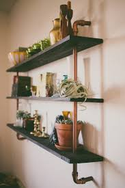 copper piping shelf made by my husband safe haven pinterest