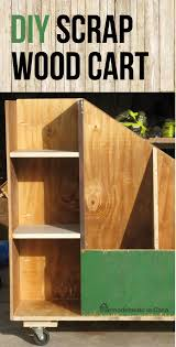 Rolling Wood Storage Rack Plans by Remodelando La Casa Diy Scrap Wood Cart
