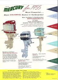 1955 mercury outboard brochure my hobbies pinterest mercury