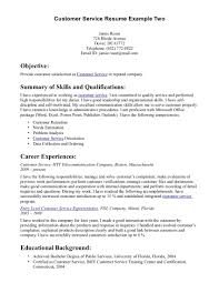 Sample Resume For Customer Service Representative Telecommunications sample customer service resumes free resume example and writing