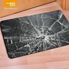 Rug For Kitchen Aliexpress Com Buy Hugsidea Entrance Carpets 3d Broken Glass