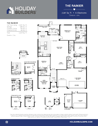 Builders Floor Plans The Rainer Lee Parade Of Homes