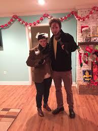 couple costume party christmas movie theme
