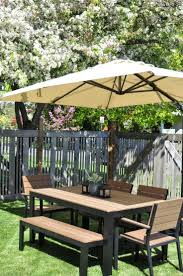 Tablecloth For Umbrella Patio Table by Best 20 Umbrella For Patio Table Ideas On Pinterest Wooden