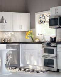 white cabinets subway tile gray walls u003d perfection kitchen
