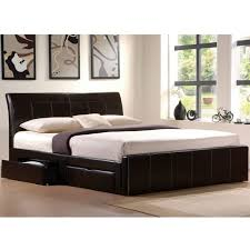 King Platform Bed Frame With Drawers Plans by Bedroom Wooden King Size Platform Bed Frame With Drawer Using
