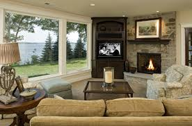 Designing Living Rooms With Fireplaces When And How To Place Your Tv In The Corner Of A Room