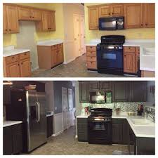 Cleaning Painted Kitchen Cabinets Rethunk Junk Furniture Paint Is Awesome On Cabinets Look What A