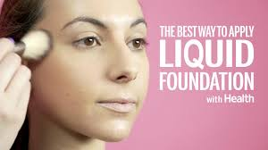 the best way to apply liquid foundation according to a makeup