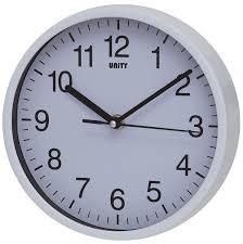 unity radcliffe silent sweep wall clock black amazon co uk