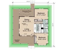 Wrap Around Porch Floor Plans Hip Cottage With Wrap Around Porch 1423 Sf Southern Cottages