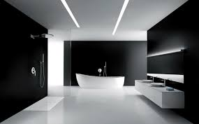 black and white bathroom with relaxing interior lighting traba homes best interior wall also ceiling plus floor design black and white bathroom