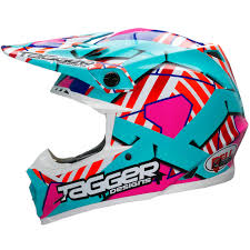 white motocross helmets bell moto 9 tagger trouble blue red white motocross helmet motox