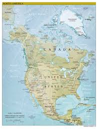 Caribbean Sea On Map by Maps Of North America And North American Countries Political
