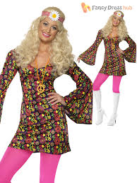 Flower Power Halloween Costume Cnd 60s Hippy Costume Flower Power Groovy Hippie Woman Lady