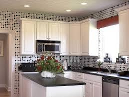 Small Kitchen Backsplash Ideas by Kitchen White Cabinets Light Floors White Kitchen With Dark Tile