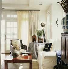 Country Living Room Curtains Dark Wood Floor Decorating Set Small Black Leather Sofa Apartment