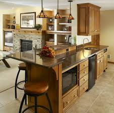 Marble Top Kitchen Islands by Kitchen Attractive Contemporary Basement Kitchen Ideas With