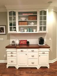 Kitchen Cabinet With Hutch An Epic Painted Kitchen Cabinet Transformation Evolution Of Style