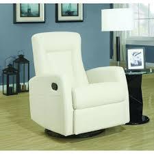 Leather Rocker Recliner Swivel Chair Monarch Specialties Ivory Bonded Leather Swivel Recliner I8082iv