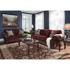 Sofa With Wood Trim by Traditional Sofa With Flared Rolled Arms U0026 Wood Trim By Signature