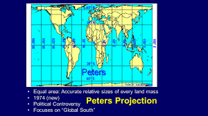 Peters Projection World Map by All Maps Distort U2026 Distance Or Direction Or Shape Or Ppt Download