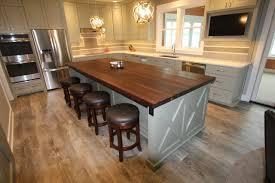 quartz countertops white kitchen island with butcher block top