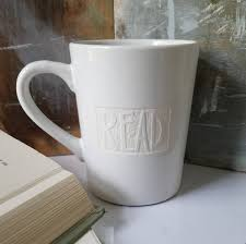 sale engraved read mug rustic coffee cup gift for reader