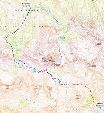 Southwest Colorado Map by Mount Sneffels Climbing Hiking U0026 Mountaineering Summitpost
