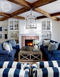 Beach Style House by House Tour Coastal Style Cottage Cottage Living Rooms Coastal