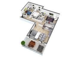 Interior Design Ideas For Open Floor Plan by 25 More 3 Bedroom 3d Floor Plans