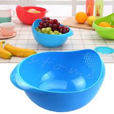 buy plastic vegetables basin wash rice sieve fruit bowl fruit