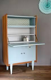 armoire vintage enfant secrétaire vintage octave rénové et relooké par les jolis meubles