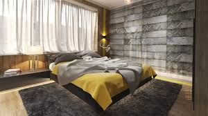 grey and yellow bedroom sets beige fur rug on the laminate wooden