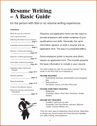 Basic Resume Examples Skills How To Write A Simple Resume Example Job Resumes Free Resume