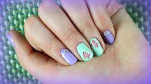 nail art design for spring summer for short nails with stickers