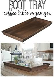 Display Coffee Table Best 25 Coffee Table Tray Ideas On Pinterest Wooden Table Box