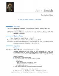 Resume Examples  latex resume templates cv mit tutorial class