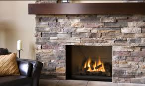cool fireplace design interior feature fossil stone pillar and