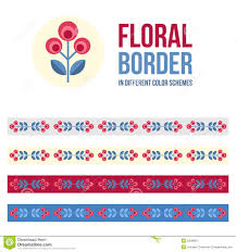 set of design elements floral borders stock vector image 53296875