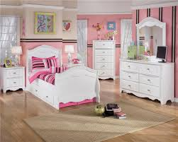 Ashley White Bedroom Furniture Signature Design By Ashley Lil U0027 Darling Full Ornate Poster Bed