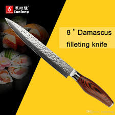 sunlong 8inch high quality filleting knives vg10 damascus steel