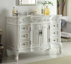 Inch Traditional Style Antique White Bathroom Vanity - 48 bathroom vanity antique white