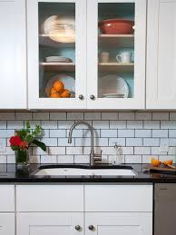 kitchen cream glass subway tile kitchen backsplash o kitchen