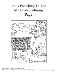 jesus preaching to the multitude coloring jpg