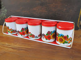 100 red canisters for kitchen rooster kitchen collection