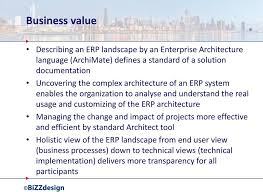 ERP architecture Managing the change and impact of projects more effective and efficient by standard Architect