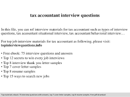 Tax Accountant Sample Resume by Tax Accountant Interview Questions