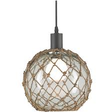 Nautical Lighting Pendants Fishing Net Sphere Chandelier Glass Float Lighting Pinterest