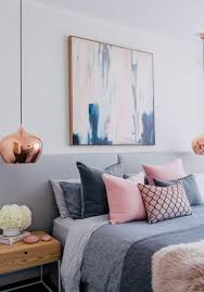 blush white and grey bedroom inspiration bedrooms artwork and